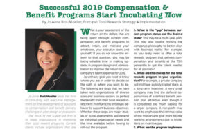 Successful 2019 Compensation & Benefit Programs Start Incubating Now